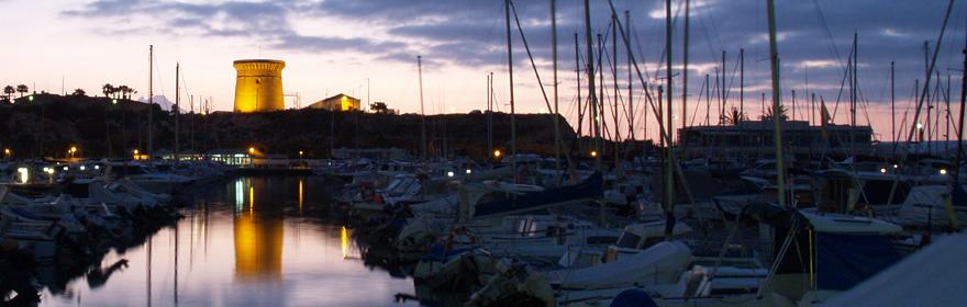 Atardecer en la Torre de la Illeta y entorno del Puerto