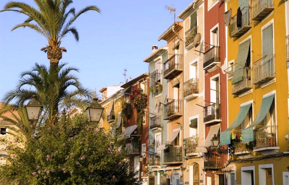 Casas de colores en Villajoyosa