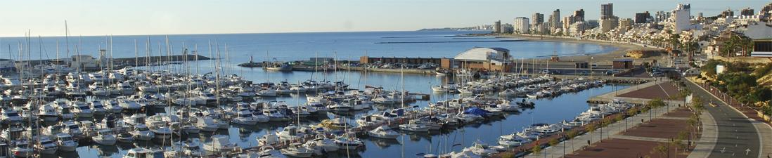 Puerto de El Campello y Playa del Carrer la Mar