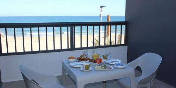 Terraza habitación Hotel La Familia