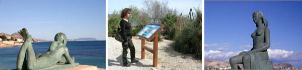 Paneles y Esculturas del Paseo de la Voramar
